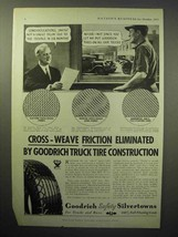 1933 Goodrich Safety Silvertowns Truck Tire Ad - Cross-Weave Friction - $14.99