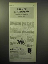 1933 Hammermill Bond Mimeograph Paper Ad - Prompt - $14.99