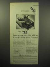 1933 Remington Portable Adding Machine Ad, Features - $14.99