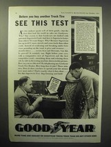 1933 Goodyear Truck Tire Ad - See This Test - $14.99
