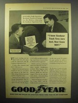 1933 Goodyear Truck Tire Ad - I Knew Were Best - $14.99