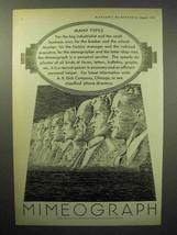 1933 Mimeograph Machine Ad - Many Types - $14.99