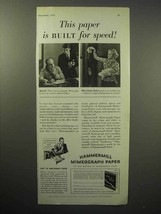 1933 Hammermill Bond Mimeograph Paper Ad - Speed - $14.99