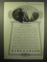 1933 Mimeograph Machine Ad - Take it Aboard - $14.99
