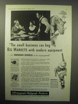 1933 Model 100 Multigraph, Model 700 Addressograph Ad - Bag Big Markets - $14.99