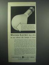 1933 General Electric Mazda Lamps Lightbulb Ad - $14.99