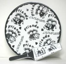 """Friends """"Children of the Inner Light"""" Cake Plate & Server Marci Baum Bros Enesco - $29.99"""