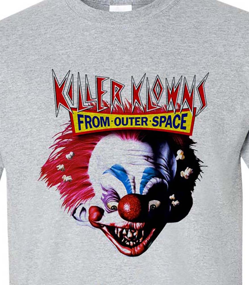 T shirt retro vintage b movie horror 80 s 1980s sci fi film for sale online tee shirt store gray