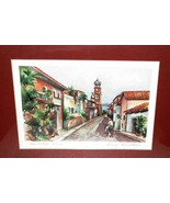 Wendy Silverthorn The Village Signed Lithograph Print #41/500 Oak Frame - $10.00