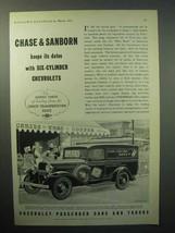 1933 Chevrolet Panel Truck Ad - Chase & Sanborn - $14.99