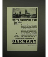 1932 Germany Tourism Ad - Cologne on the Rhine - $14.99