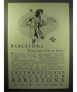 1929 Barcelona Tourism Ad - Picturesque City of Spain - $14.99