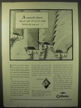 1929 Gillette Razor Ad - A Smooth Shave - $14.99