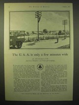 1929 AT&T Telephone Ad - USA is Only Few Minutes Wide - $14.99