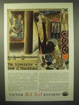 1929 Victor Red Seal Records Ad - Miserere Il Trovatore - $14.99