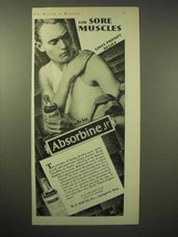 1929 Absorbine Jr. Ointment Ad - For Sore Muscles - $14.99