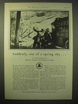1929 AT&T Bell Telephone Ad - Out of a Spring Sky - $14.99