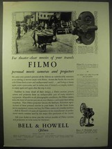 1929 Bell & Howell Filmo 70-D Movie Camera Ad - $14.99