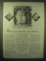 1929 Cine-Kodak Movie Camera Ad - Wedding Day Arrives - $14.99