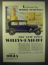 1929 Willys-Knight 70-B Car Ad - Master Designers - $14.99