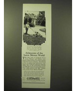 1929 Coldwell L-Twin Motor Mower and Roller Ad - $14.99