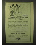 1929 NYK Line Cruise Ad - Wide World Service - $14.99