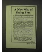 1929 Quaker Pettijohn's Cereal Ad - Way of Eating Bran - $14.99