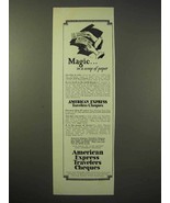 1926 American Express Travelers Cheques Ad - Magic - $14.99