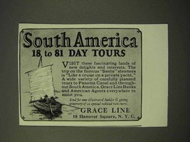 1926 Grace Line Cruise Ad - South America - $14.99