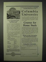 1925 Columbia University Ad - Courses for Home Study - $14.99