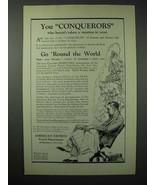 1923 American Express Travel Department Ad - Conquerors - $14.99