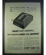 1940 Comptometer Model M Adding Machine Ad - Easier - $14.99