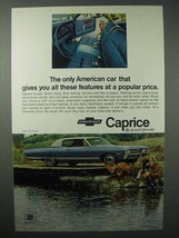 1968 Chevrolet Caprice Coupe Car Ad - These Features - $14.99