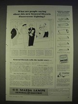 1940 General Electric Mazda Lamps Ad - Fluorescent - $14.99