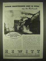 1935 Hewitt Rubber Ad - Lower Maintenance Railroads - $14.99