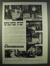 1946 Leeds & Northrup Type G Speedomax Pyrometer Ad - $14.99