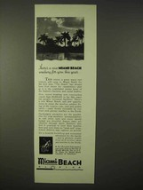 1935 Miami Beach Florida Ad - Waiting For You This Year - $14.99