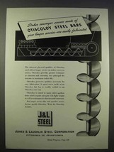 1946 Jones & Laughlin Steel Ad - Otiscoloy Steel Bars - $14.99