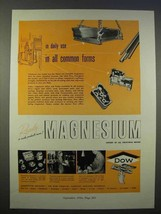 1946 Dow Magnesium Ad - Daily Use in All Common Forms - $14.99