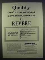 1946 Revere Copper and Brass Ad - Quality Awaits - $14.99
