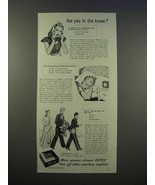 1946 Kotex Sanitary Napkins Ad - Are You In The Know? - $14.99