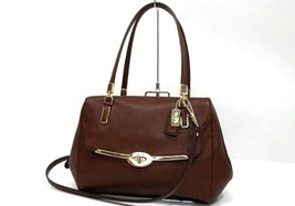 AUTHENTIC COACH MADISON Leather 2 Way Shoulder ... - $355.00