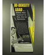1945 Eberhard Faber Van Dyke Microtomic Pencil Ad - $14.99