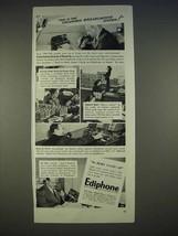 1940 Ediphone Machine Ad - CBS, Frank Stanton, Ed East - $14.99