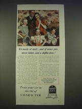 1940 Quaker State Oil Ad - It's Made of Steel, and Pies - $14.99