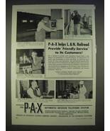 1940 PAX Telephone System Ad - L&N Railroad - $14.99