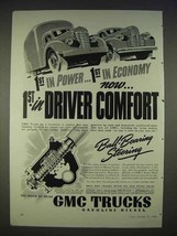 1940 GMC Truck Ad - 1st in Power, 1st in Economy - $14.99