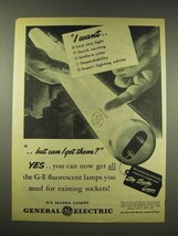 1944 General Electric Mazda Fluorescent Lamps Ad - $14.99