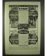 1938 Canadian Pacific Cruise Ad - The Alpine Beauty - $14.99