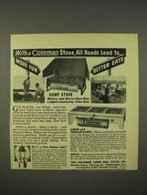 1938 Coleman Camp Stove, Cabin & Trailer Stove Ad - $14.99